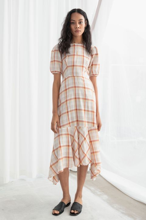 & other stories check dress