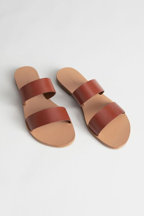 & Other Stories leather two strap sandals