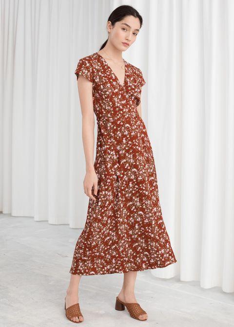 f46d7dc7e1ad Other Stories Floral Midi Wrap Dress