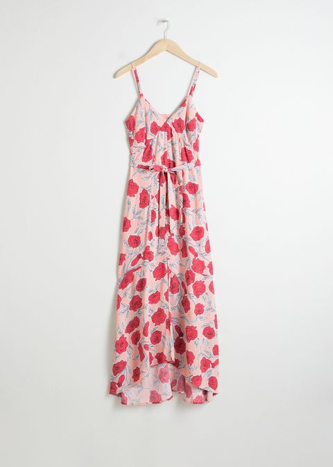 Clothing, Day dress, Dress, Pink, One-piece garment, Pattern, Pattern, Design, Textile, Peach,