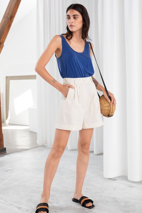 heatwave dressing & OTHER STORIES COTTON LYOCELL BLEND SHORTS