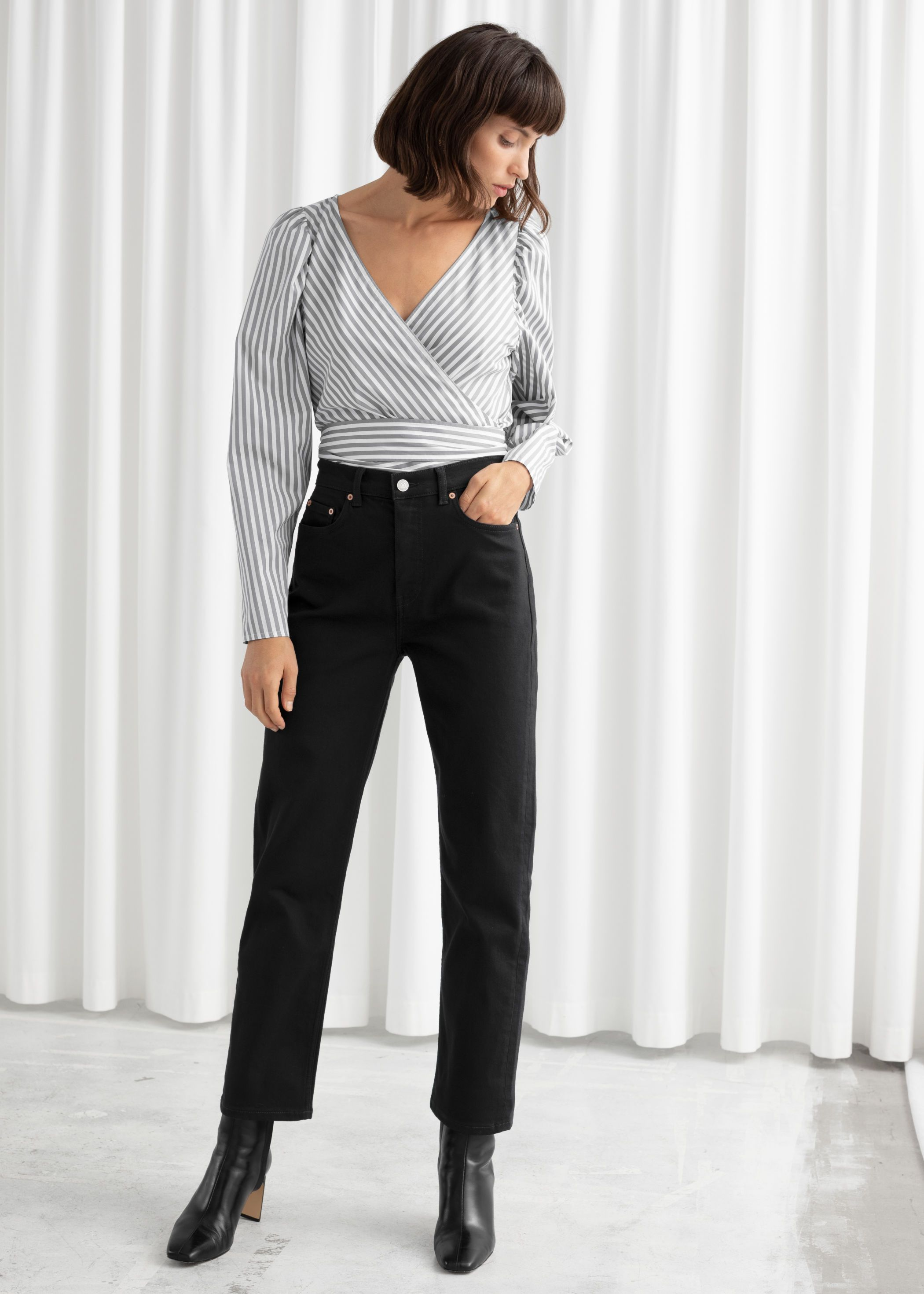 Women/'s casual wet look straight leg Jeans Black Sizes UK 8 10 12 14 16