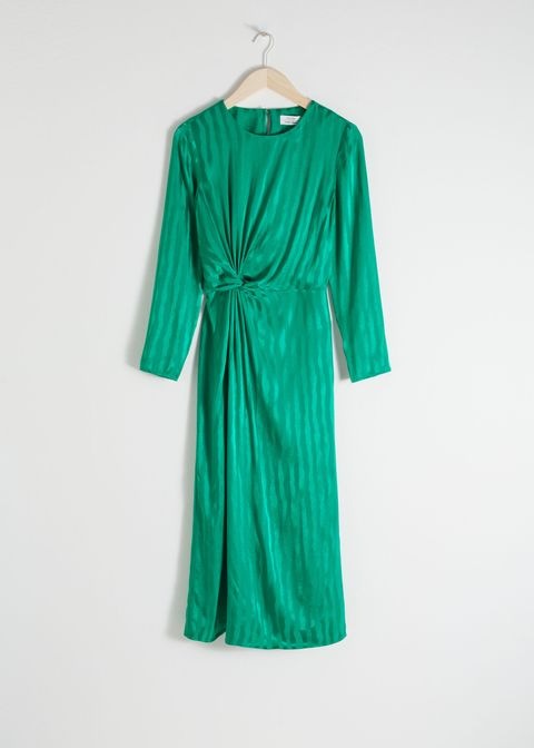 Striped Twist Knot Midi Dress