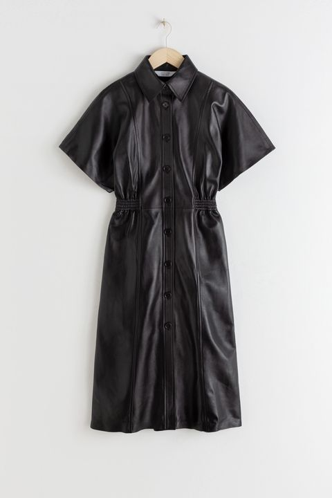& Other stories leather dress