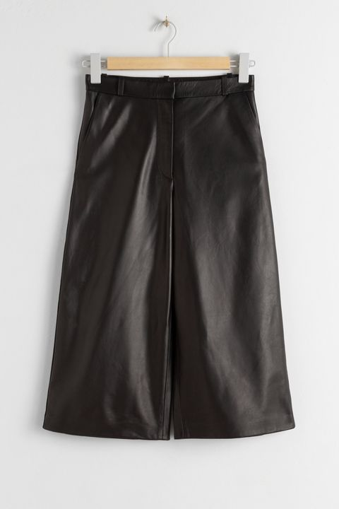& Other stories leather culottes