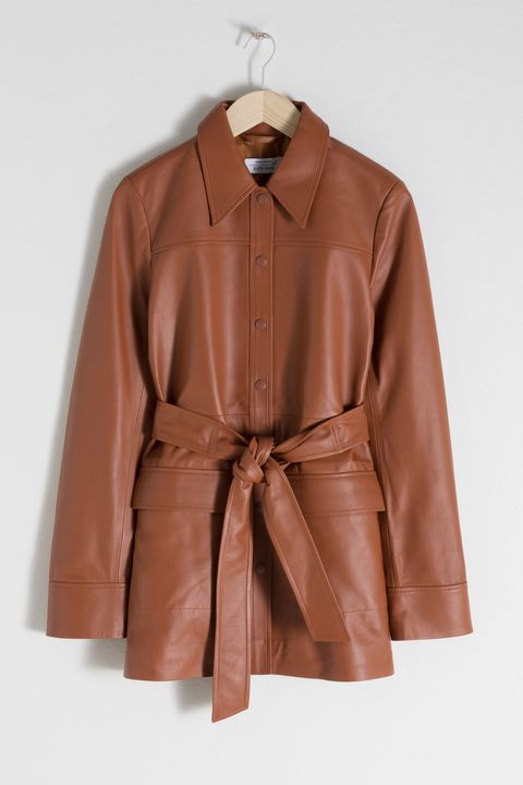 & Other stories leather jacket