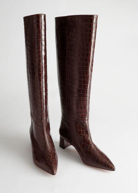 di buona qualità migliori scarpe da ginnastica miglior fornitore Moda Stivali 2020: l'ossessione stivali marroni alti stampa cocco
