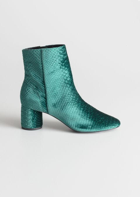 Footwear, Green, Boot, Shoe, Turquoise, Teal, Leather,