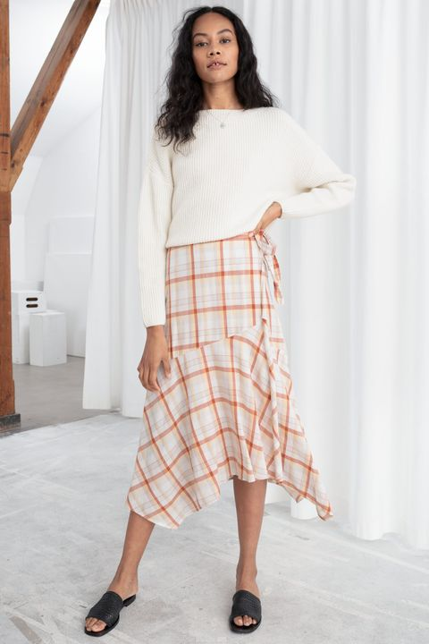 & Other stories sale - checked midi skirt