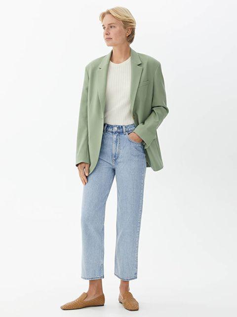 arket straight cut mom jeans