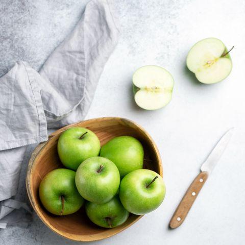 Appels in een schaal