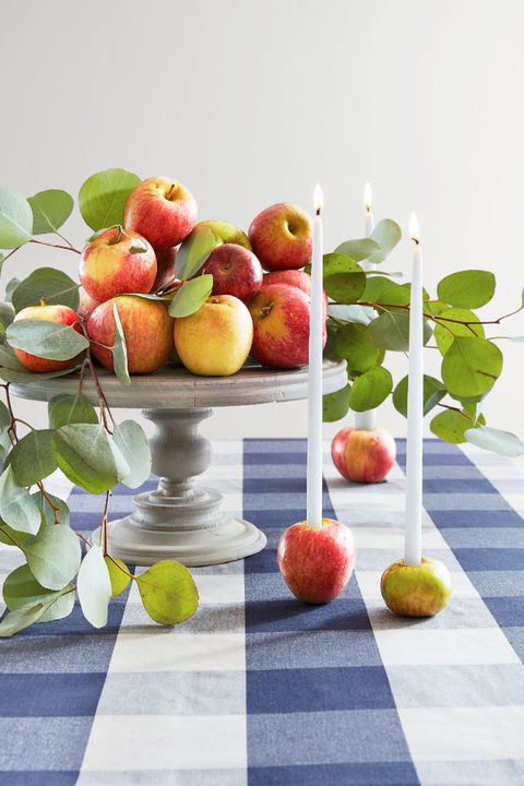 DIY Apple Candleholders Thanksgiving Decorations
