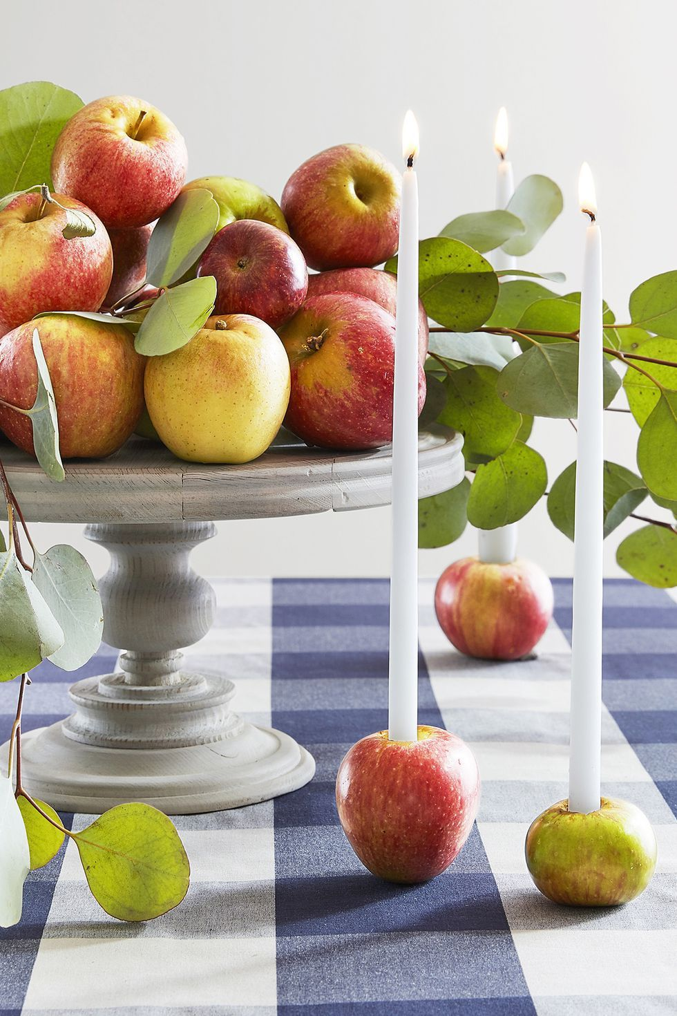 Thanksgiving Crafts Apple Candleholders
