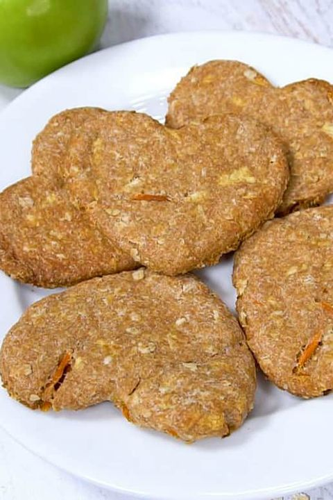 diy homemade dog treats - carrot apple dog biscuts recipe