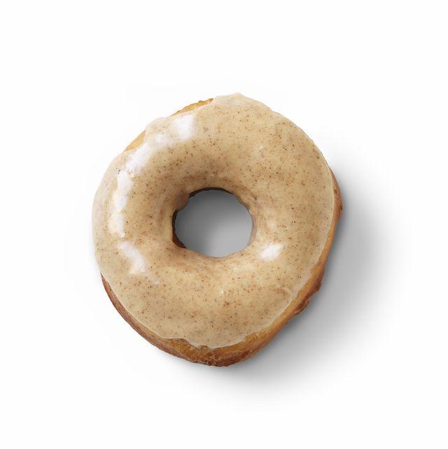 apple cider glazed yeast doughnuts