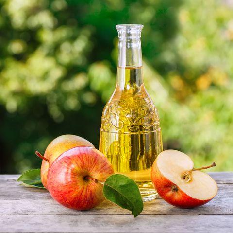 apple cider on table