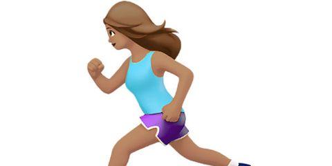 Apple's Female Runner Emoji
