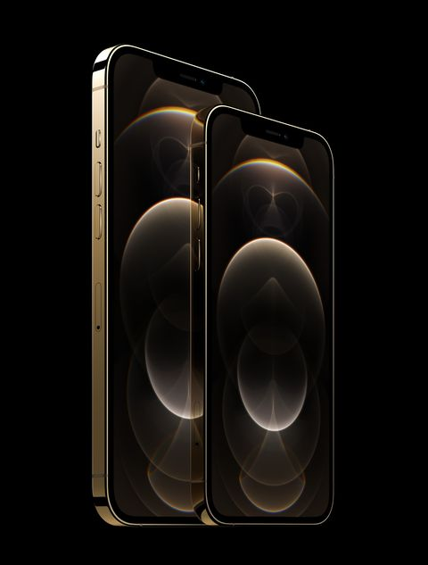 iphone 12 pro and iphone 12 pro max in gold