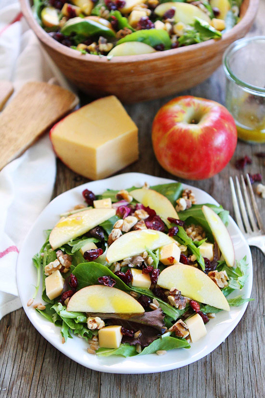 Ensalada de manzana y queso Gouda