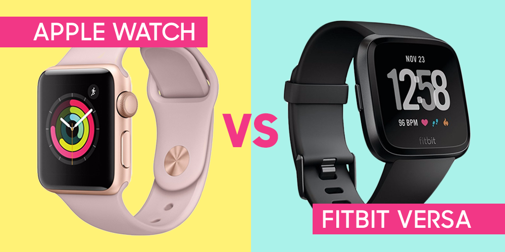 Review Of Fitbit Versa 2018 Apple Watch Vs Fitbit Versa