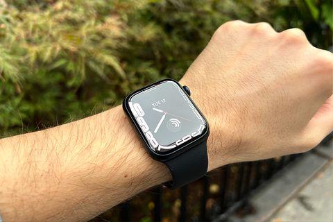 apple watch series 7 on wrist
