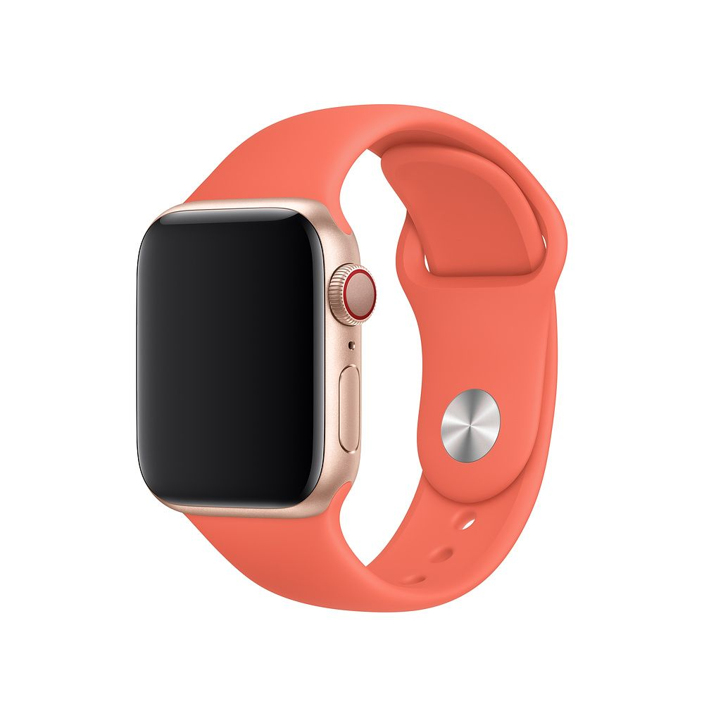 Gold Apple Watch Red Leather Band Apple