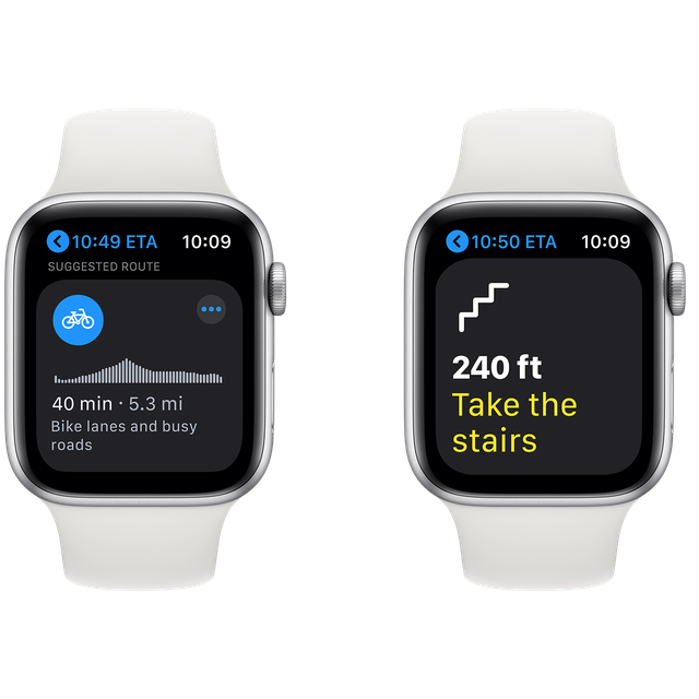 apple watch cycling directions