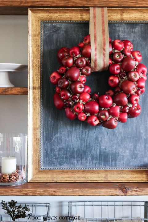 apples diy fall wreath