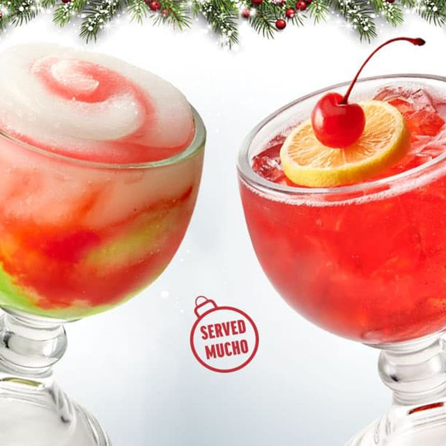 applebee's berry merry colada and reindeer punch christmas cocktails