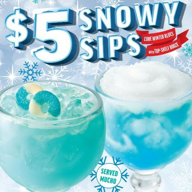 applebee's 5 snowy sips cocktails