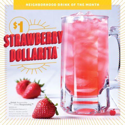 Strawberry margarita 'Dollaritas' at Applebee's