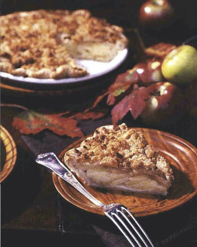apple cheddar crumble pie