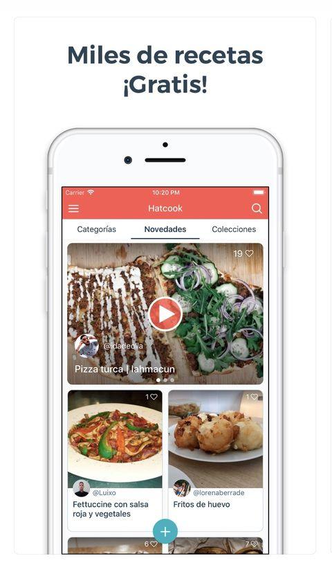 App de recetas perfecta para aprender a cocinar