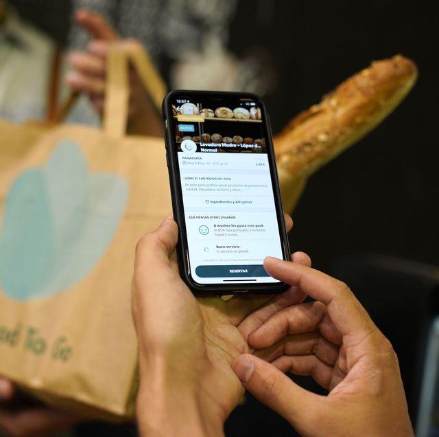imagen de una app móvil para aprovechar las sobras de comida de comercios y restaurantes