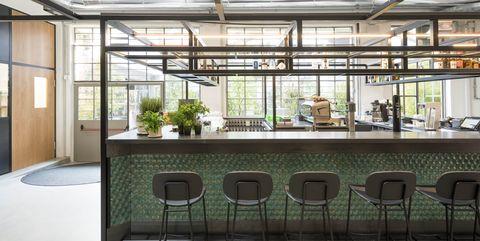 Floor, Interior design, Flooring, Furniture, Glass, Ceiling, Chair, Fixture, Hall, Transparent material,