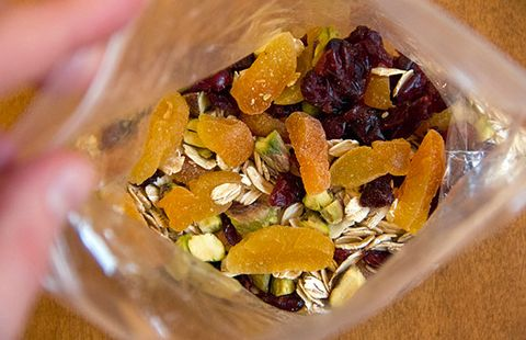 apricot cherry pistachio oatmeal
