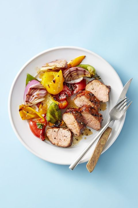 apricot grilled pork tenderloin and peppers