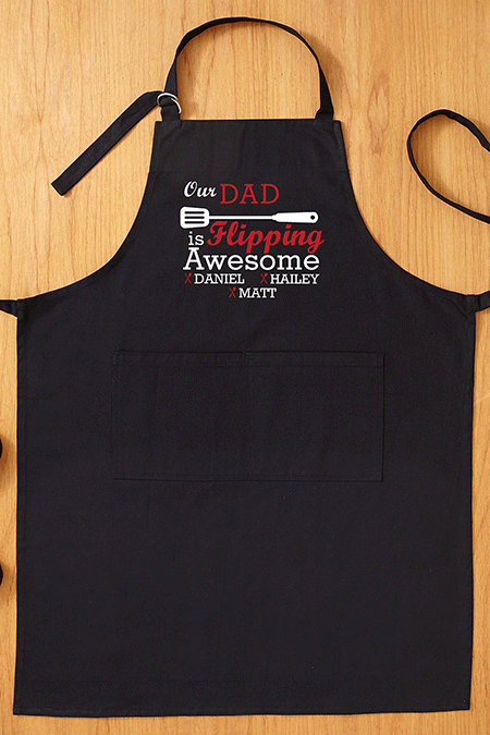 Father's Day Gifts from Daughter -Flipping Awesome Grilling Apron