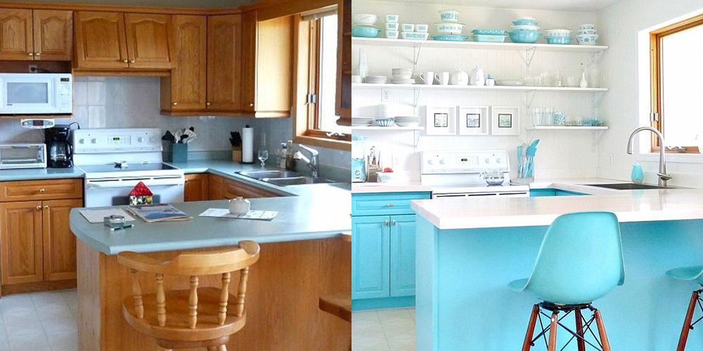 13 Clever Kitchen Makeovers Kitchen Renovation Ideas