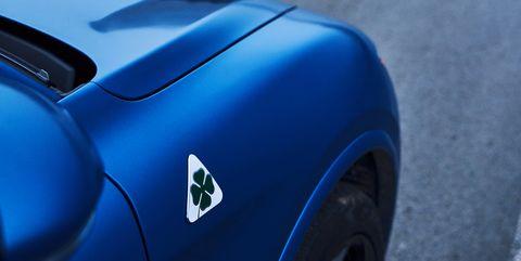 Land vehicle, Vehicle, Car, Blue, Sports car, Automotive design, Coupé, Electric blue, Hood, Race car,