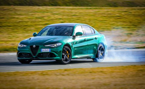 2021 alfa romeo giulia quadrifoglio european model shown