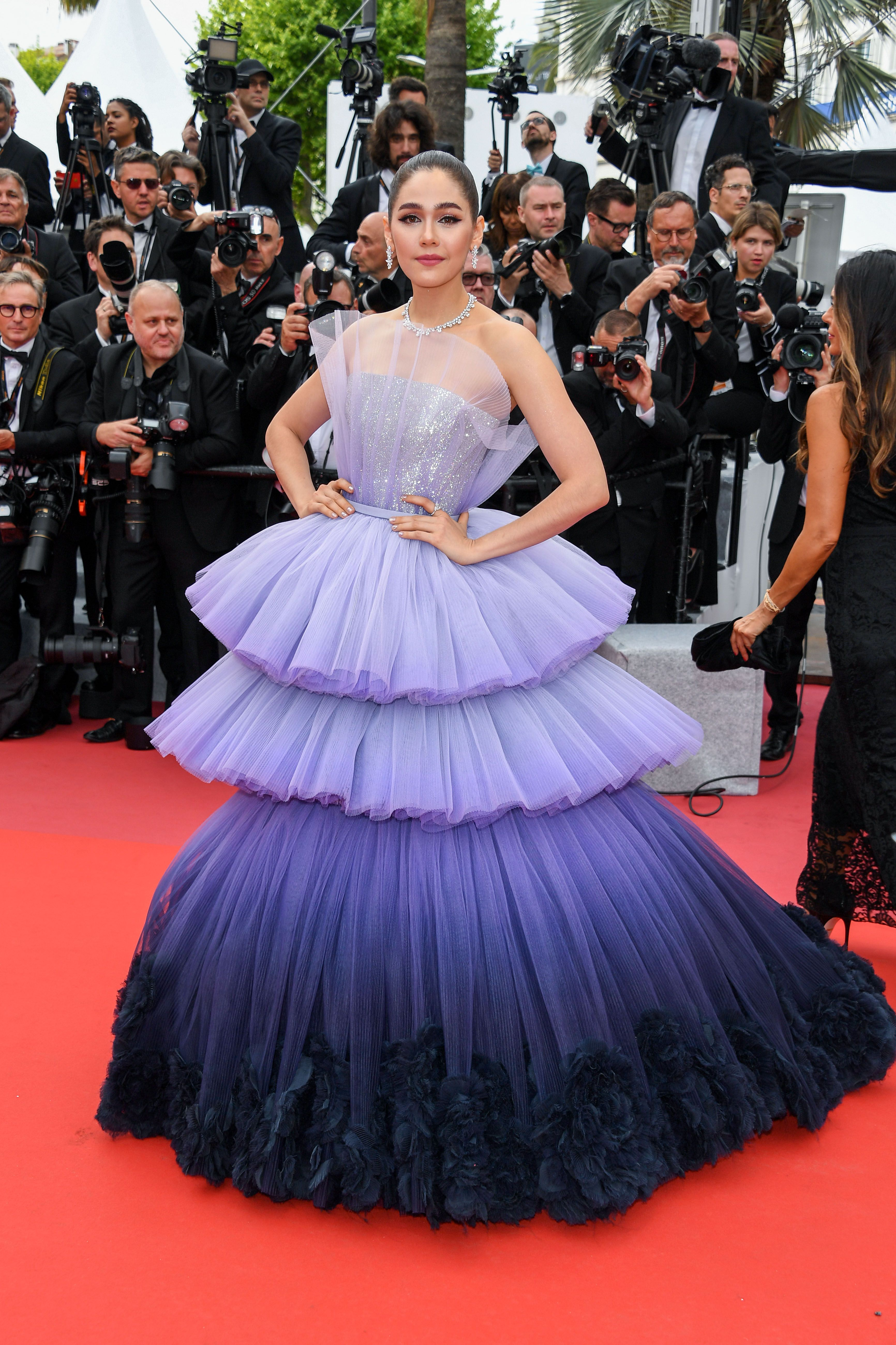 Araya A. Hargate In Chopard jewels at the opening ceremony of the Cannes Film Festival and premiere of The Dead Don't Die .