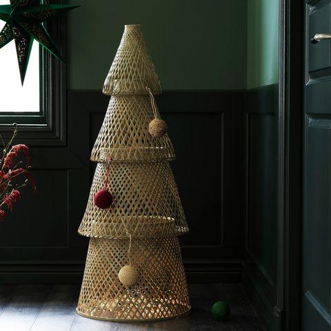 Árbol de navidad de bambú de ikea