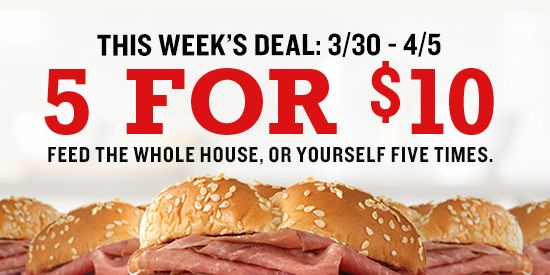 Arby's Is Offering 5 Roast Beef Sandwiches For $10
