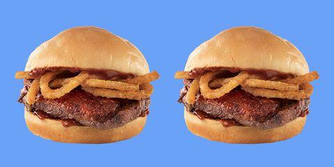 Food, Dish, Hamburger, Cuisine, Buffalo burger, Slider, Ingredient, Patty, Cheeseburger, Burger king premium burgers,