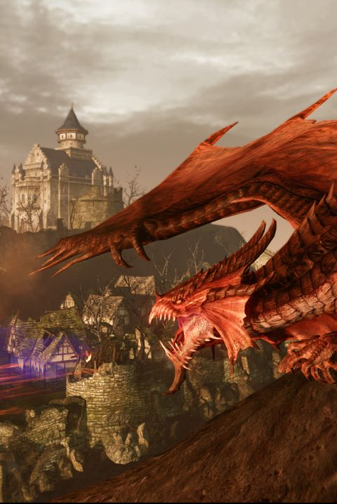 Cg artwork, Dragon, Fictional character, Pc game, Games, Sky, Mythical creature, Mythology, Action-adventure game, Strategy video game,