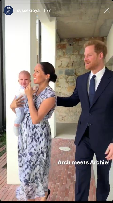 archie meghan markle prince harry s baby appears on royal tour see photos archie meghan markle prince harry s