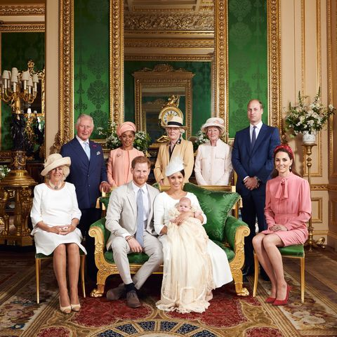 archie christening royal family