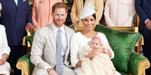 The royal family at Archie's christening in Windsor