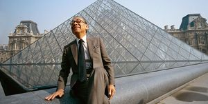 I.M. Pei at Louvre Pyramid